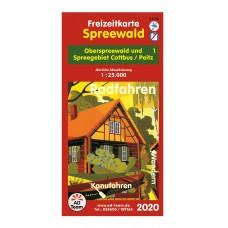 Freizeitkarte Burg (Spreewald) 2020