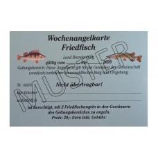 Wochenangelkarte Friedfisch 2020