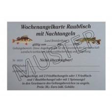 Wochenangelkarte Raubfisch mit Nachtangeln 2020