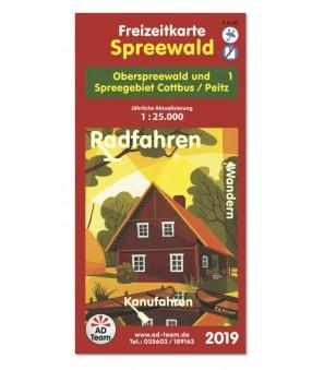 Freizeitkarte Burg (Spreewald) 2019