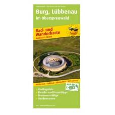 Rad- und Wanderkarte Burg, Lübbenau im Oberspreewald