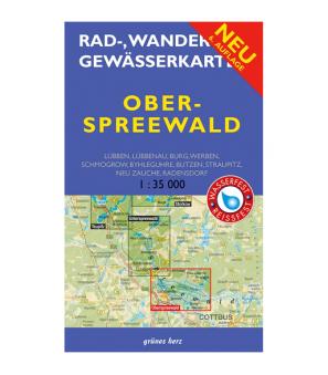 Rad-, Wander-, Gewässerkarte Grünes Herz