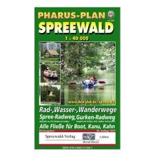Pharus Spreewald - Rad-, Wasser-, Wanderkarte