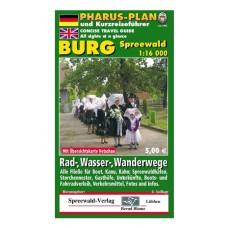 Pharus Rad-, Wander-, Wasserkarte Burg (Spreewald)