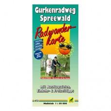 Gurkenradweg Spreewald Radtourenkarte